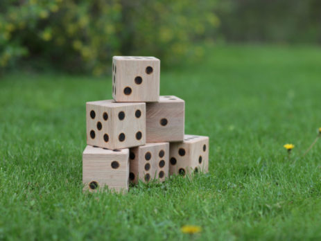 giant wooden lawn dice