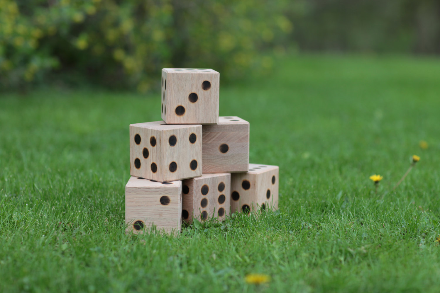 Giant Wooden Lawn Dice Perfect Choice For Parties And Events