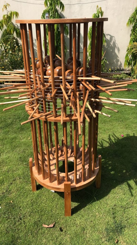 Giant Wooden Kerplunk | Jenjo Games