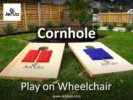 Cornhole Play on Wheelchair