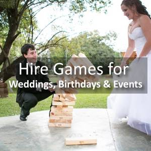 Hire Games for Weddings, Birthdays & Events | Jenjo Games
