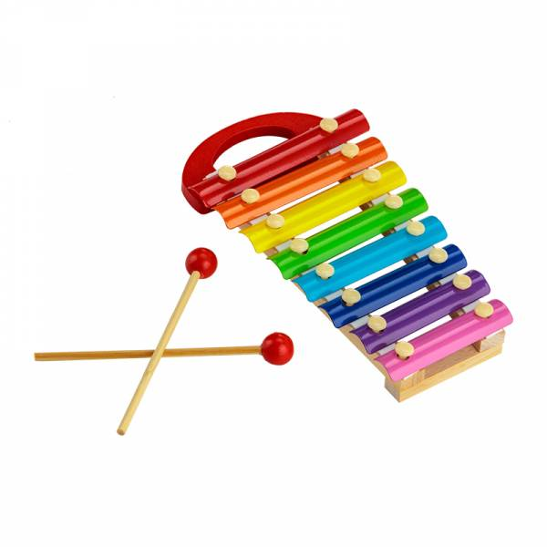 Xylophone with wooden mallets